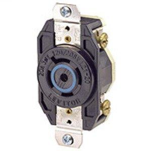 Leviton 2510 Locking Single Receptacle, 20A, 3PH Y 120/208V, 4P5W