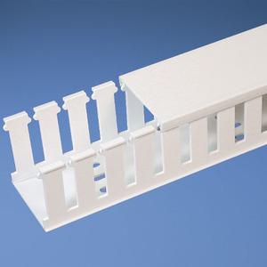 "Panduit NE1X3WH6 Halogen-Free Slotted Wiring Duct, 1"" x 3"" x 6', White"