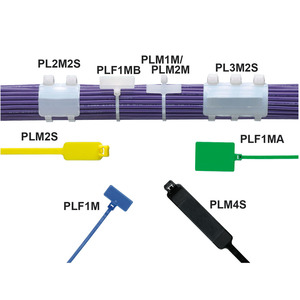 Panduit PLF1MA-C Marker Tie, Flag, 5.1L (130mm), Miniatur