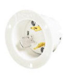 Hubbell-Bryant 71030MB Lkg Flg-inlt, 30a 125/250v, L10-30p,wh