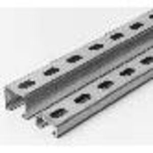 "Superstrut A1400HS-10PG Channel - Elongated Holes, Steel, Pre-Galvanized, 1-5/8"" x 1-5/8"" x 10'"