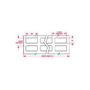 Brady THT-162-499-10 Label,THT,B499,.8x1.437,Wht,10000LBL/RL