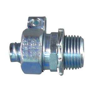 "Appleton ST-38L Liquidtight Connector, Straight, Size 3/8"", Grounding Lug, Steel"