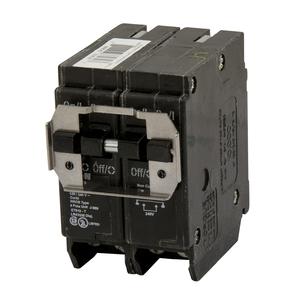 Eaton BQ220220 Breaker, 20/20A, 2P, 120/240V, 10 kAIC, CTL Quad, BR Series