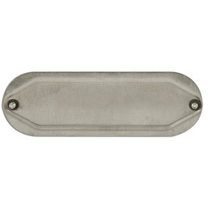 "Mulberry Metal 11711 Conduit Body Cover with Neoprene Gasket, Size: 3/4"", Aluminum"