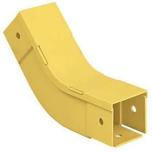"Panduit FIV452X2YL Inside Vertical 45° Fitting, for 2"" x 2"" Fiber-Duct, Yellow"