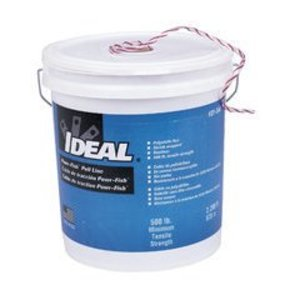 Ideal 31-344 Pull-Line,Ideal,Powr-Fish,Extra Heavy DTY,2,200 FT LEN,FBR Polyline,WHT With Red