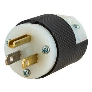 Hubbell-Kellems HBL5266C Straight Blade Plug, 15A, 125V, 5-15P, 2P3W