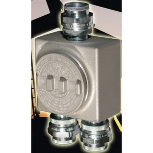"Appleton GRUSE50 Conduit Outlet Box, Type GRUSE, (3) 1/2"" Hubs, Malleable"
