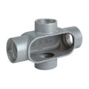 "Hubbell-Killark X17CCG Conduit Body, Type: X, Size: 1/2"", Iron"
