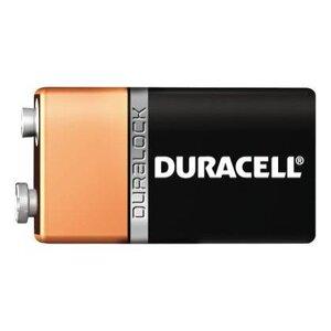 Duracell MN1604B1 Battery, 9V, 6LR61, Alkaline, Miniature Snap Terminal