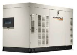 Generac RG04524ANAX Generator, Standby, 45kW, 1PH, 120/240VAC, 148A, Liquid Cooled, 45kVA