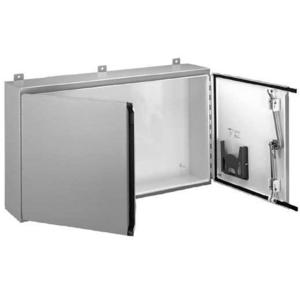 "nVent Hoffman A484812WFLP Enclosure, Two Door, Hinge Cover, NEMA 12, 48"" x 48"" x 12"", Steel"