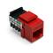 41108-RC5 CRIMSON RED JACK 8P8C KEYSTONE