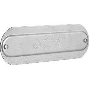 "Hubbell-Killark OL-30M Conduit Body Cover, 1"", Steel, Series 5, Screw-On"