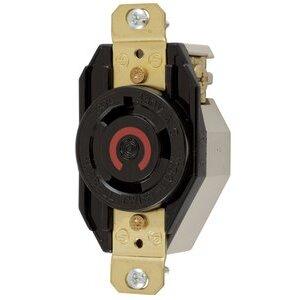 Hubbell - Lighting HBL2640 Lkg Rcpt, 30a 480v, 2p3w, L8-30r, Bk