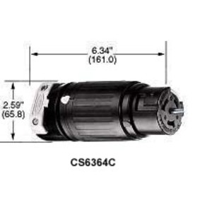 Hubbell-Kellems CS8164C 3P4W, 50A 3PH 480V AC, Nylon Cover, Rynite Interior