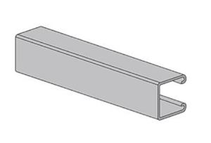 """Power-Utility Products AS-132-10-HD Channel - Solid, Steel, Hot-Dipped Galvanized, 1-5/8"""" x 1-5/8"""" x 10'"""