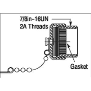 Allen-Bradley 1485A-C1 DeviceNet Accessory, Sealing Cap, Control Power, M22, External Male