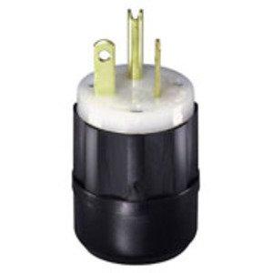 Leviton 5366-CY 20 Amp Plug, 125V, 5-20P, Nylon, Yellow, Industrial Grade