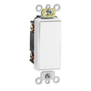 Leviton 5693-2W 3-Way Decora Switch, 15A, 120/277V, 1-Pole, White