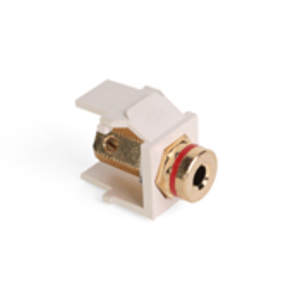 Leviton 40837-BTR Adapter Banana Jk W/red Light Almond