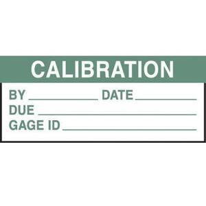 Panduit PCWL-ICAL Write-On Label, Vinyl Cloth, 'Calibratio