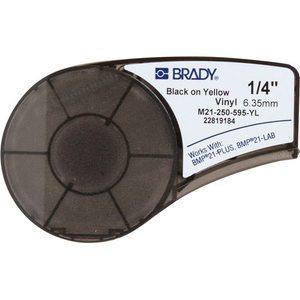 "Brady M21-250-595-YL CART M21 B595 0.25"" X 21' BLK/YEL"
