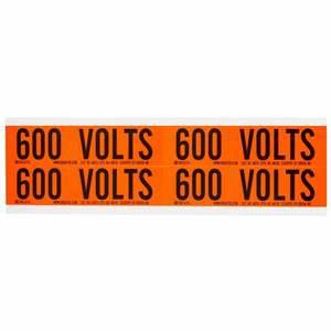 44218 SIGN 600V BLK ON ORNG 4/SHT(1CARD)