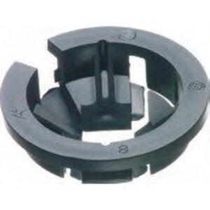 "Arlington NM96 NM Cable Connector, 1"", Push-In, Non-Metallic, Black"