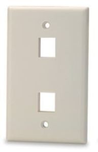Signamax SKF-2-WH 2-Port Single-Gang Keystone Faceplate, White