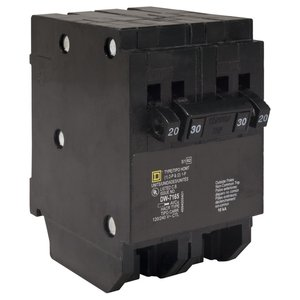 Square D HOMT2020240 Breaker, 20/40A, 2P, 120V, 10 kAIC, HomeLine Twin CB