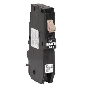 Eaton CHFCAF115PN Breaker, 15A, 1P, 120/240V, 10 kAIC, Type CH, Combo AFCI