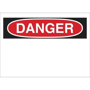 "Brady 88926 Danger Sign, Self Sticking, 10"" x 14"", Outdoor Use"