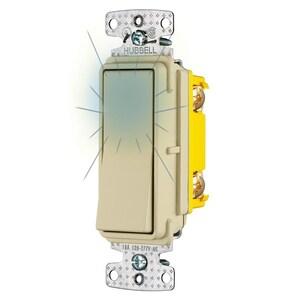 Hubbell-Wiring Kellems RSD115ILI RESI ROCKER SW, SP, 15A 120V, ILL IV