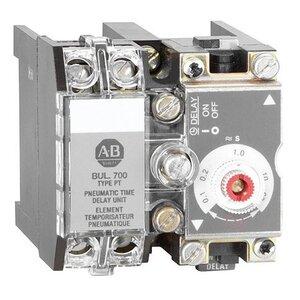 Allen-Bradley 700-PT Contactor, Pneumatic Time Delay, 10A, 1NO/1NC, 0.1-60 Seconds