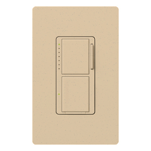 Lutron MA-L3S25-DS Incandescent/Halogen Dual Dimmer and Switch, Desert Stone