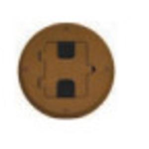 Hubbell-Wiring Kellems RF406BN FLOOR BOX FLANGE AND DOOR , BROWN