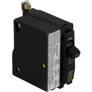 Square D QOB1201021 Breaker, Bolt-On, 20A, 1P, 120/240VAC, QOB Type, 10 kAIC, Shunt Trip