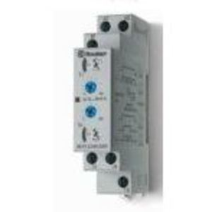 Finder Relays 80.91.0.240.0000 Timing Relay, Asymmetrical Flasher, Multi-Range, 1C/O, 12-240V AC/DC