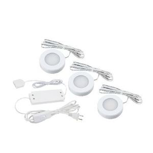 American Lighting OMNI-3KIT-WH LED Puck Light Kit, White