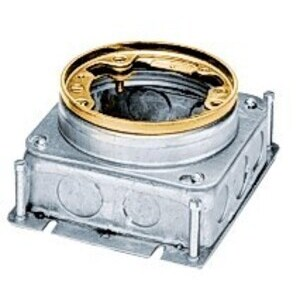 B2527 FLOOR BOX CIRCULAR STEEL