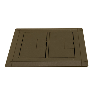 Carlon E9762B Floor Box Cover, 2-Gang, Flip Cover, Device Type: All Devices, Brown