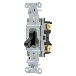 Hubbell-Wiring Kellems CSB115BK SWITCH, SPEC, SP, 15A 120/277V, B+S, BK
