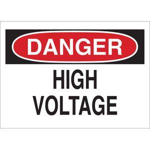 Brady 25533 BRADY 25533 ELECTRICAL HAZARD SIGN
