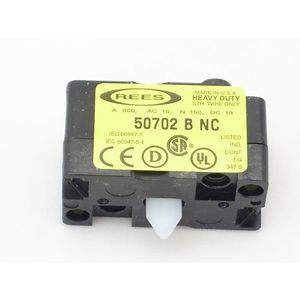 Rees 50702-000 CONTACT BLOCK REES 14/2 AWG STRD 0 TO +55 DEG C OPERATING OLD CATALOG NO: 40702