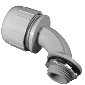 "Appleton NML-11 Liquidtight Connector, 90°, 1/2"", Non-Metallic"