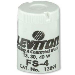 Leviton 13891 Fluorescent Starter, FS-4, 13/30/40W