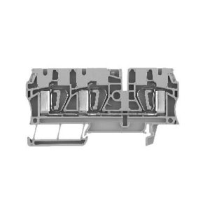 Allen-Bradley 1492-L4T Terminal Block, 33A, 600V AC/DC, Gray, 26 - 10AWG, 4mm