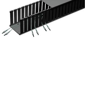 Panduit E4X4LG6 Wire Duct, Width: 4 in, Hgitht: 4 in, Light Gray